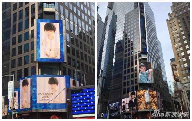 纽约时代广场注册鹿鼎LED大屏。