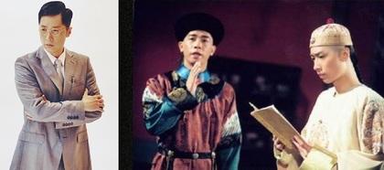 马浚伟(右图右)曾与陈小春(右图左)合演《鹿鼎记》