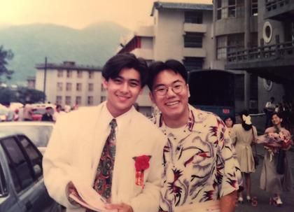 婚礼主持人蚬仔分享他与林志颖高中时期合照