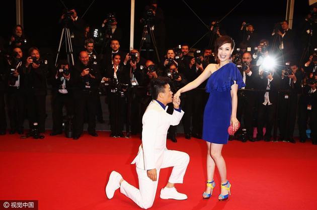 王宝强当年在电影节求婚资料图。