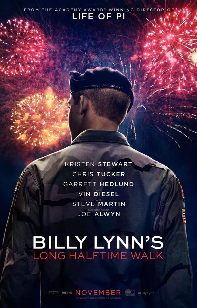 11月更是非常满,李安新片《比利林恩的中场休息》已定档11.11