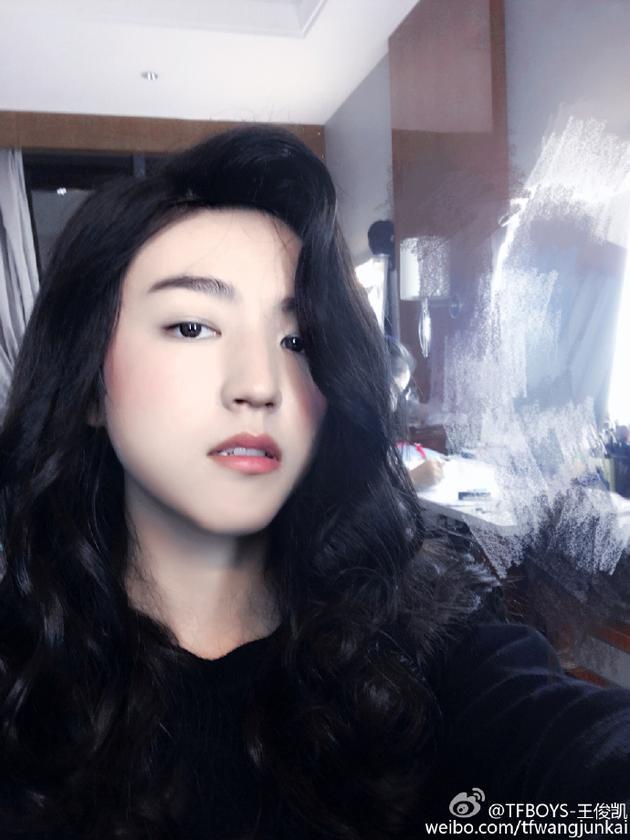 王俊凯女装扮相