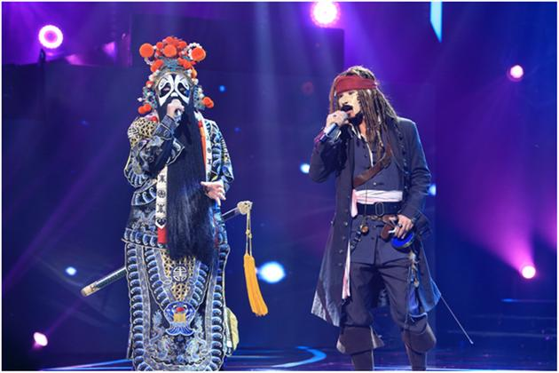 《蒙面》歌手西楚霸王(孙楠已揭面)与蓝瘦海盗很香菇