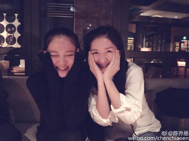 李宇恩安允才全见图-新浪娱乐讯 11月9日晚,陈乔恩   通过微博晒和谢娜   开心合影,并写