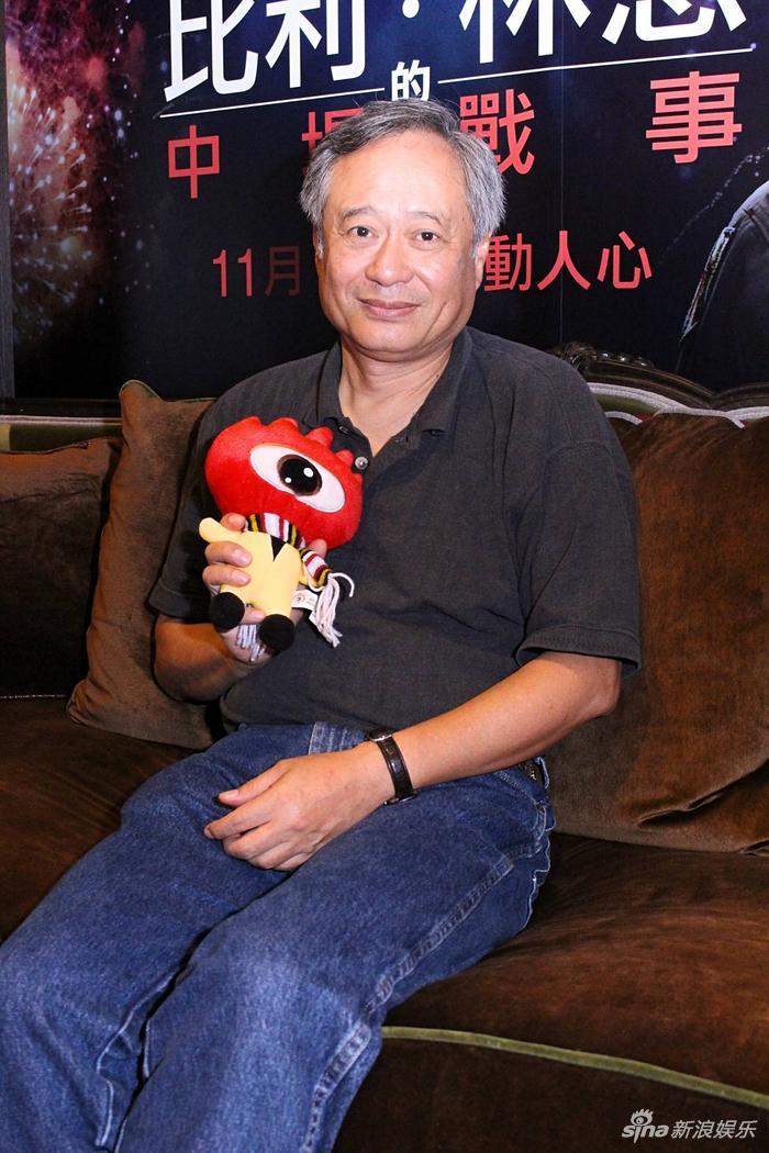 李安在台北对话新浪娱乐。(摄影:林怡妘)