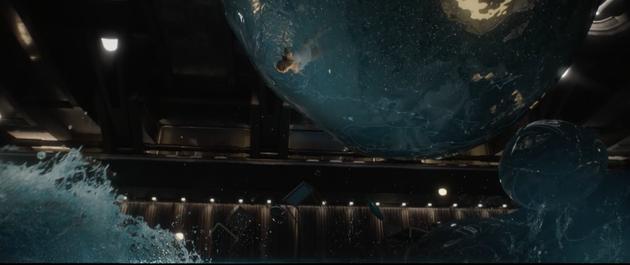 重力失效后球星水流
