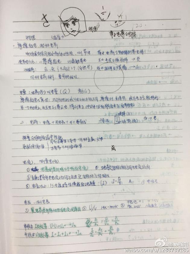 关晓彤学习笔记和涂鸦