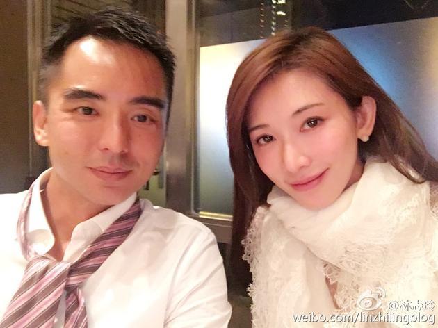 林志玲和亲哥哥合影