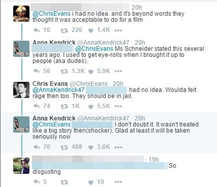 克里斯-埃文斯回应安娜-肯德里克的留言