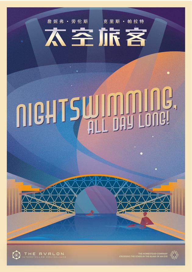 《太空旅客》艺术版海报之梦幻游泳池