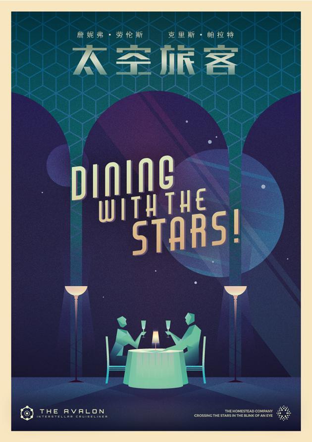 《太空旅客》艺术版海报之星光晚餐