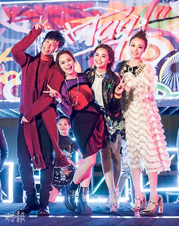 林峰、Twins及容祖儿在贺岁MV中又唱又跳