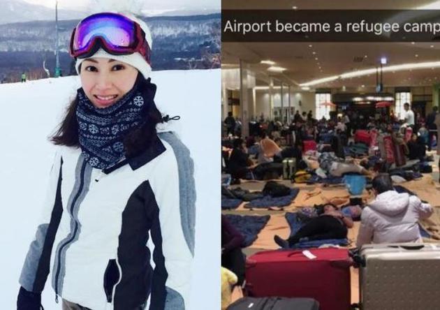 李嘉欣赴北海道滑雪