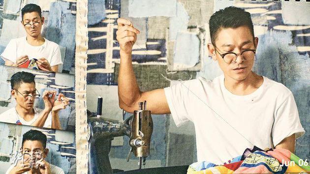 刘德华化身为裁缝师,表情多多。