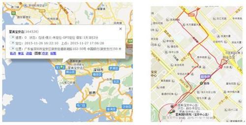 GPS定位车辆状态查询、行车轨迹信息记录