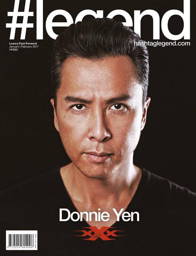 甄子丹写真登《#legend》杂志封面