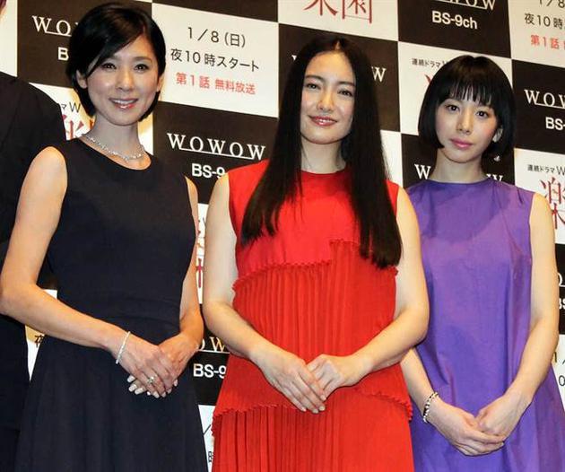 女星仲间由纪惠为新戏《乐园》宣传