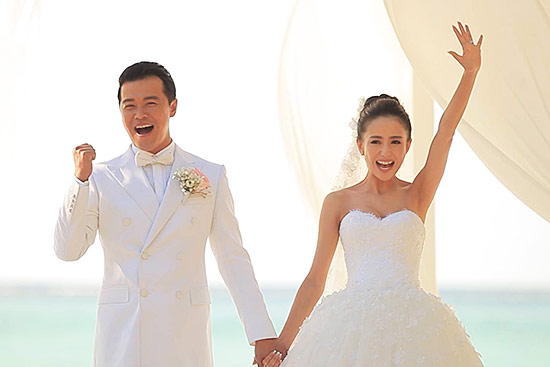 陈思诚、佟丽娅结婚照