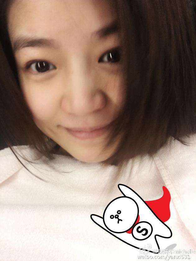 陈妍希产后首晒自拍