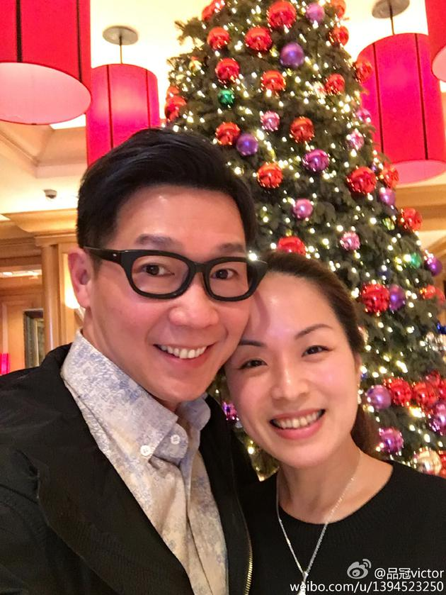 品冠与妻子Jennifer