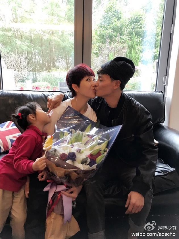 蔡少芬张晋和女儿