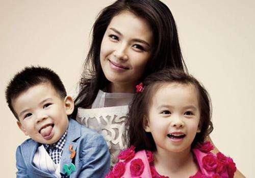 刘涛与一双儿女