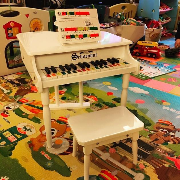 王力宏赠钢琴给范玮琪儿子