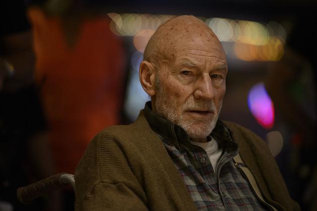 """老年""""X教授""""帕特里克·斯图尔特"""