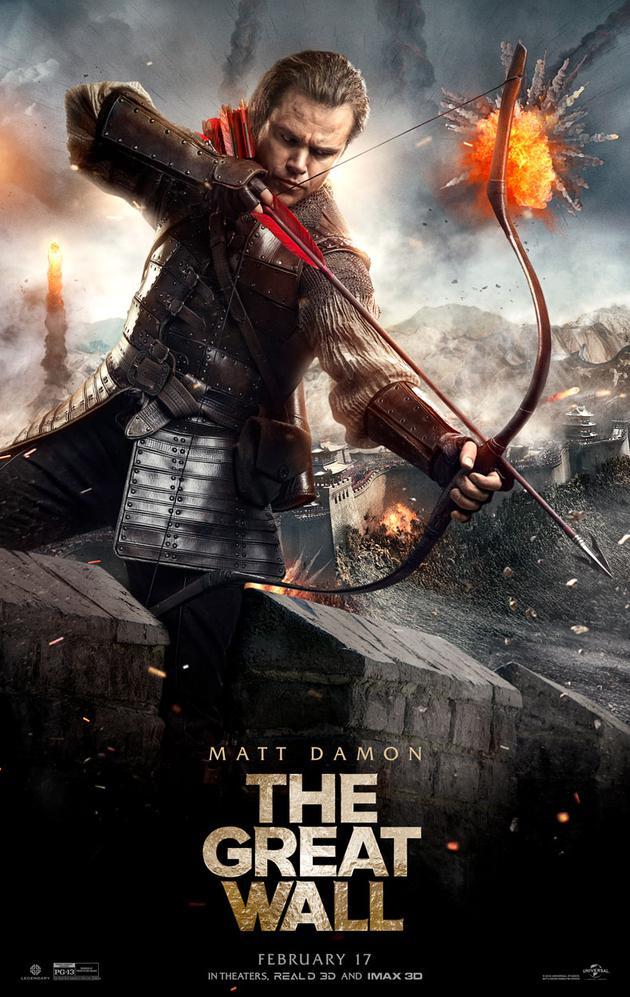 《长城》在北美上映,主打特效+新鲜的外国背景设定+马特·达蒙