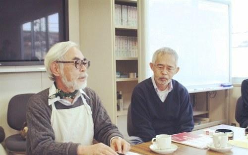 宫崎骏和铃木敏夫制作人