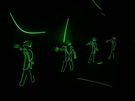 炫酷的电光舞表演