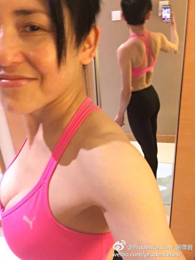 52岁刘美君肌肉紧实