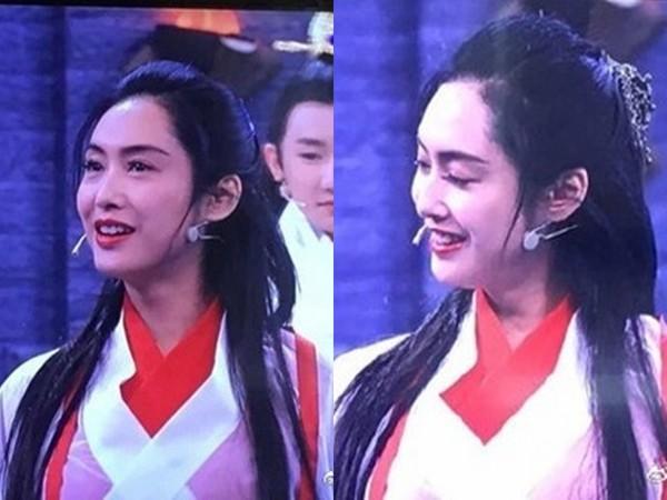朱茵再度穿上红白仙服,灿笑勾起影迷回忆。