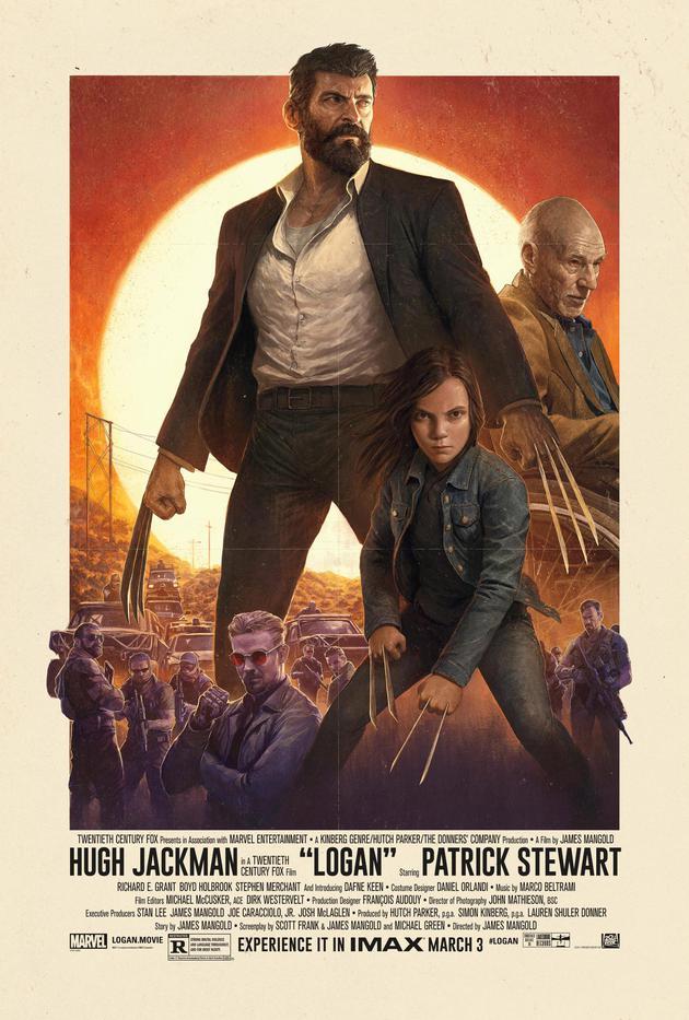 《金刚狼3》的这款海报非常有西部片风范
