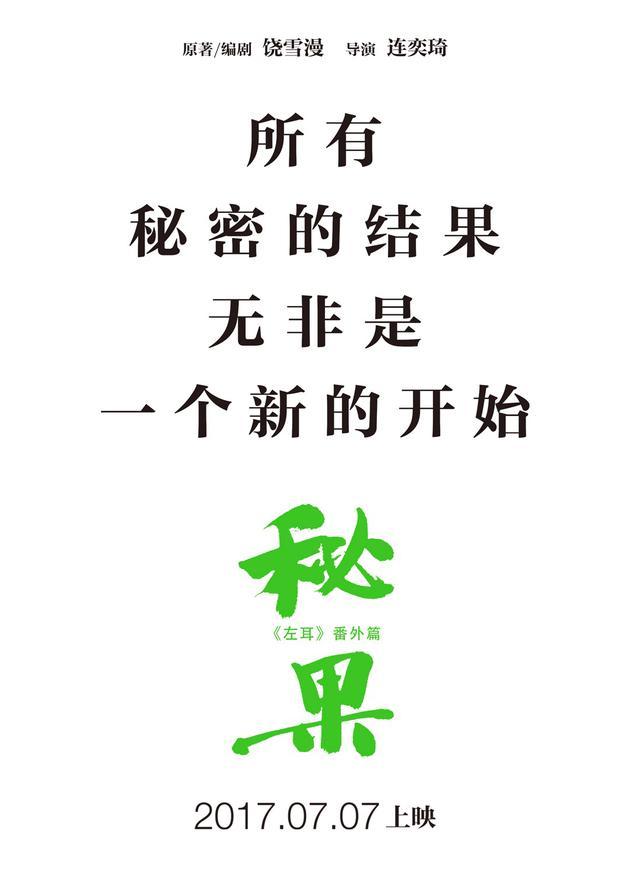 电影《秘果》文字版海报