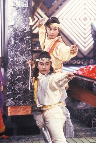 1990年张卫健和郭晋安合作《日月神剑》