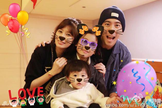 贾静雯修杰楷和两个女儿