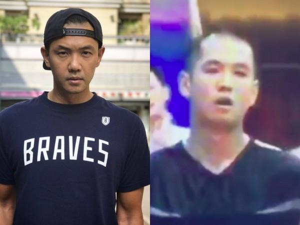 陈建州年轻打球时的照片