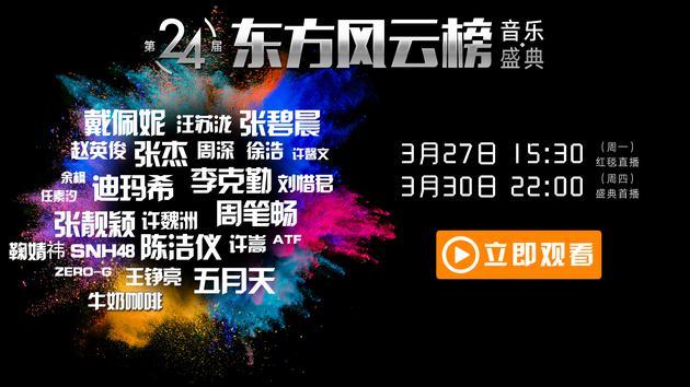 第24届《东方风云榜》音乐盛典海报