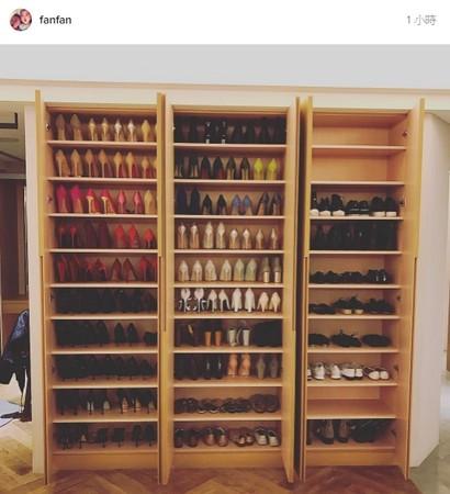 范范公布家里鞋柜