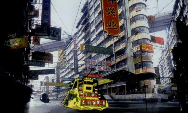 《攻壳机动队》动画中的中国城