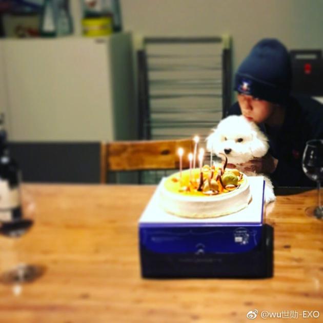 EXO吴世勋迎24岁生日