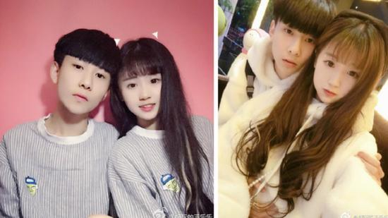 网红情侣王乐乐与杨清柠