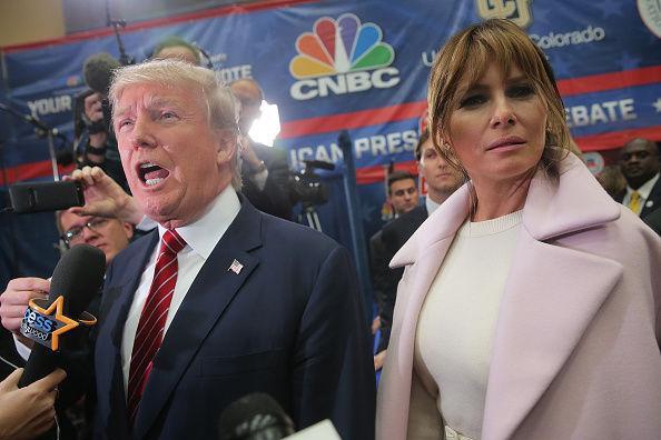特朗普与妻子梅拉尼娅