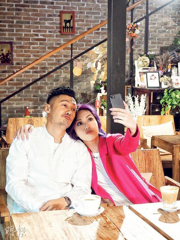 余文乐(左)为杨千嬅新歌拍MV,延续《春娇救志明》的爱情故事。
