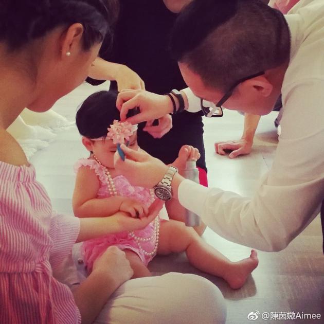 陈豪陈茵媺小女儿1岁了