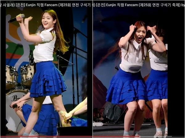 韩女团成员热舞胸垫滑落至小腹 坚持跳完全程