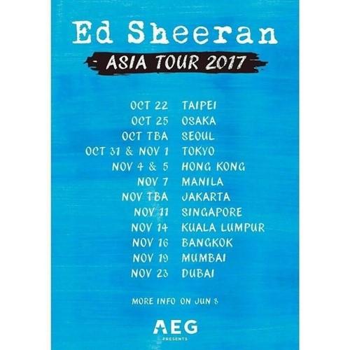 英国歌手艾德希兰将赴首尔开唱 时隔2年再访韩