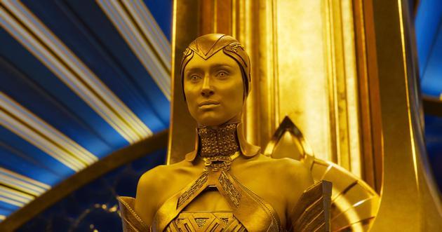 《银河护卫队2》小金人原是大美女:这造型很漂亮
