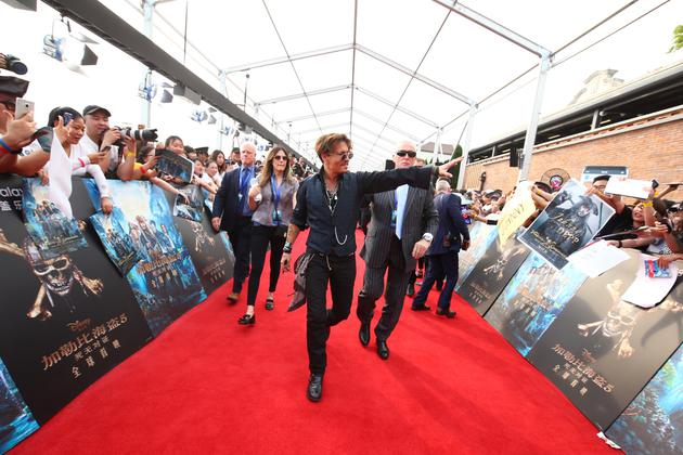 《加勒比海盗5》全球首映 德普率全明星空降上海